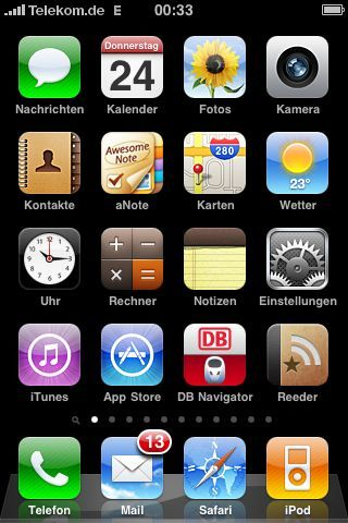 iOS4 Home Screen