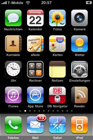 iPhone OS 3 Home Screen